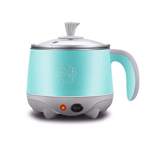 Feceyq Edelstahl Mini Electric Hot Pot, Familie Schlaf Büro, ideal for Ramen, Eier, Nudeln, Knödel, Suppe, Porridge