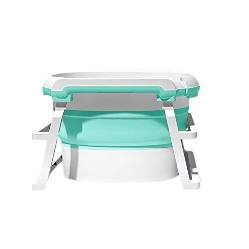 NUBAOgy baby-vouwbadkuip, draagbare 0-6 jaar oude kinderbadkuip, kunststof douchebak voor pasgeborenen, eenvoudig op te bergen met drainage, design met verhoogde vergroting, 3 kleuren, 73 x 46 cm