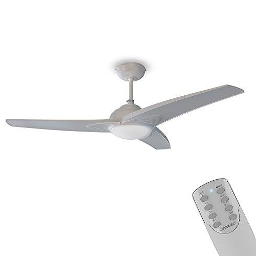 Cecotec Ventilador de Techo con Mando a Distancia, Temporizador y Luz LED EnergySilence Aero 460. 55 W, 106 cm de Diámetro, 3 Aspas, 3 Velocidades, Función Invierno, Diseño en blanco