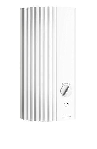 AEG Haustechnik AEG elektronischer Durchlauferhitzer DDLE Easy 18 kW, guter Warmwasserkomfort, 2 Festtemperaturen 42/55 °C, 228840, W, 400 V, Weiß