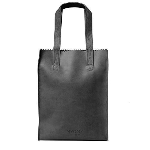 MY PAPER BAG Long Handle Zip - Hunter Off-Black