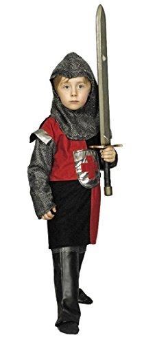 Ritter Erwann Kostüm Kinder Rot Gr. 128 - 2