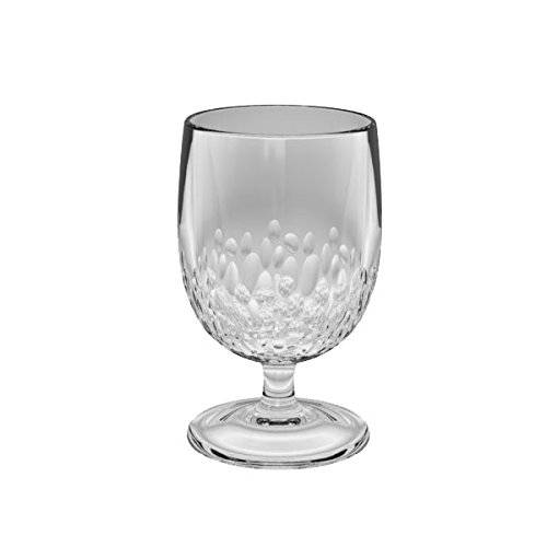 TarHong Cabo Acrylic Goblet- Clear Finish - Set of 6