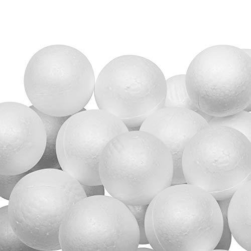 Styropor Kugeln (24 Stk) - Weiße Styroporkugeln zum Basteln 8 cm Durchmesser – Polystyrol Bälle Rund & Glatt für Hobby, Kunst, DIY Weihnachtskugeln, Bastel Projekte Schule, Dekoration, Party Deko