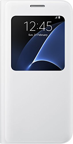 Samsung EF-CG930PWEGWW Custodia S-View per Samsung Galaxy S7, Bianco