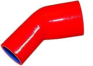 TOYOKING ハイテク シリコンホース エルボ 45度 異径 内径Φ76⇒Φ89mm 赤色 ロゴマーク無し インタークーラー ターボ インテーク ラジェーター ライン パイピング 接続ホース 汎用品