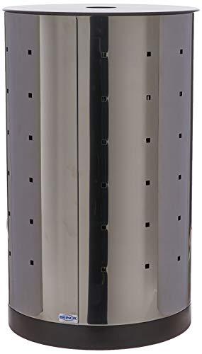 Cesto P/roupas C/rodizios/fundo Plastico Brinox Decorline Lixeiras Aço Inox