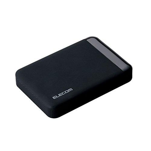 エレコム HDD ポータブルハードディスク 2TB USB3.0 テレビ録画対応 かんたん接続ガイド付き 静穏設計