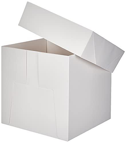 Decora 0339477 TORTENKARTON MIT Deckel 30,5X30,5X30 cm, Pappe, Weiß, 30.5 x 30.5 x 30 cm