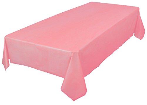 amcrate rectangular cubierta de mesa de plástico rosa reutilizable–ideal para bodas, fiestas, cumpleaños, cenas, vajillas, o para cualquier uso del almuerzo, (54'x 108)