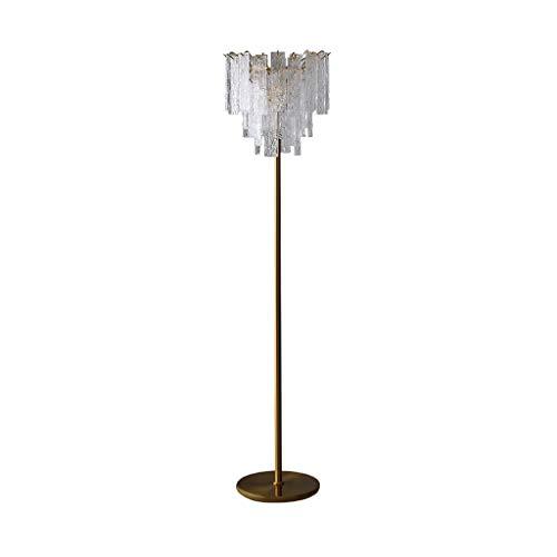 EIU LED Stehleuchte Kristallglas Stehlampe Fußschalter Leselampe Für Schlafzimmer Und Wohnzimmer
