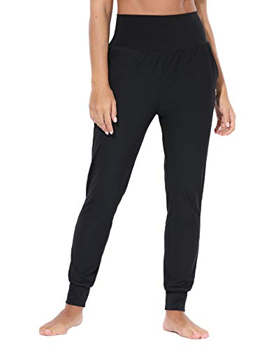 BALEAF Women's High Waist Yoga Jogger Sweatpants Pocket Track Pants Buttery Soft Lounge Workout Leggings Black Size XXL