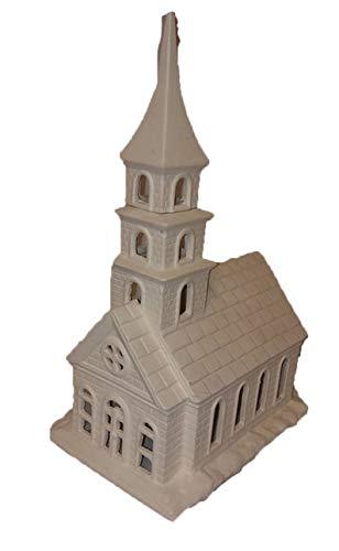 "Village Church 12 1/2"" Ready to Paint Ceramic Bisque"
