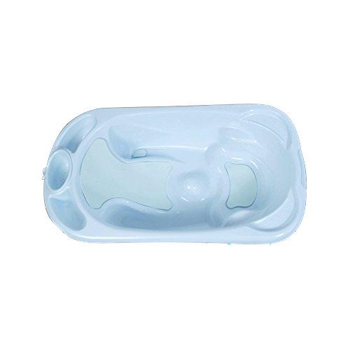 Cubeta antideslizante para bebés. Bañeras para bebé anatómica blanca