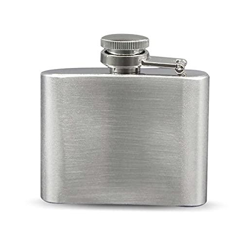 Petaca de acero inoxidable de 2 onzas frasco de bolsillo ruso Hip Flask masculino pequeño portátil mini botellas de chupito whisky jarra pequeños regalos camping senderismo frascos