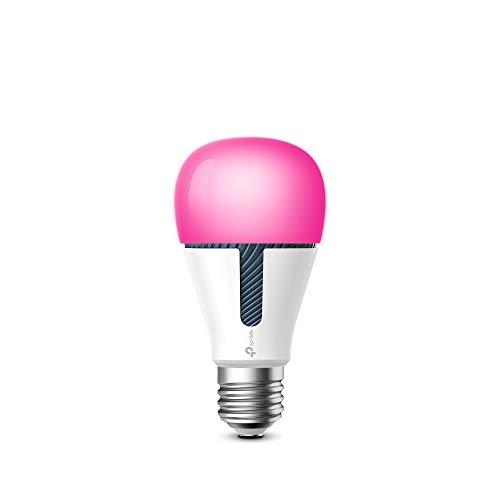 TP-Link KL130 Lampadina Wi-Fi E27, 10 W, Funziona con Amazon Alexa e Google Home, 800 lumen, Temperatura colore 2700-9000K, Controllo da remoto, Multicolore