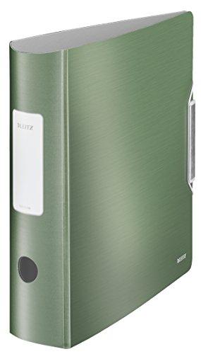 Leitz 11080053 Multifunktions-Ordner (A4, Runder Rücken (8, 2 cm Breite) Gummibandverschluss, Kunststoff, Active Style) seladon grün