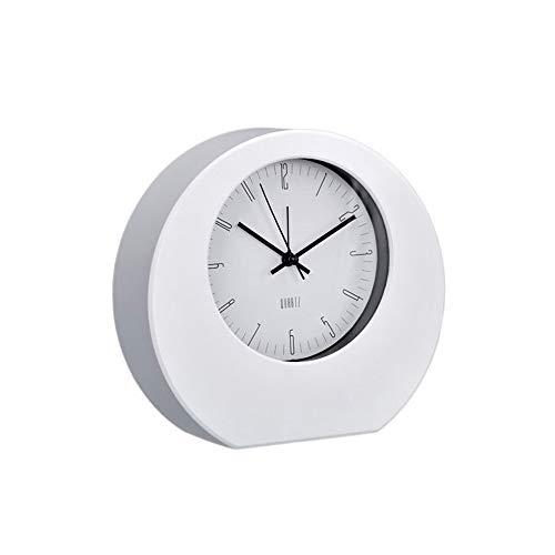 PROMO SHOP Clásico Reloj Despertador Analogico Blanco · Reloj de Mesa con Mecanismo de Cuarzo y Alarma · Reloj Sobremesa Ideal para Regalar en Cualquier Momento