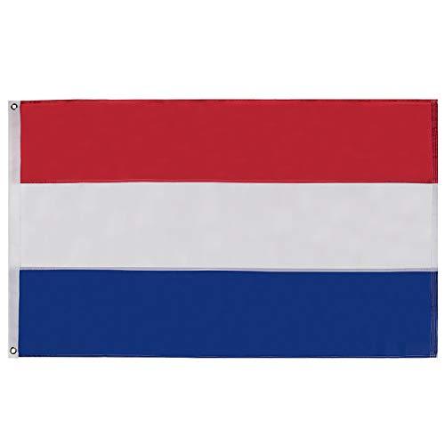 Lixure Niederlande Flagge/Fahne 90x150cm Holland Flagge Top Qualität Europa Länder Nationalflaggen - Durable 210D Nylon Draußen/Drinnen Dekoration Flagge MEHRWEG