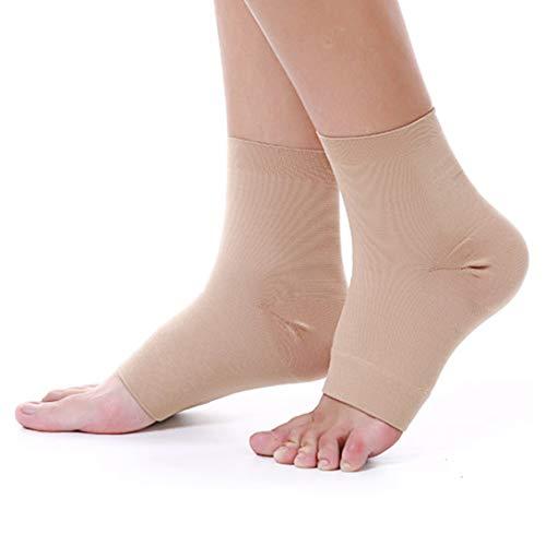 UONNER Sprunggelenk Bandage, Knöchelbandage, Fußbandage für Damen Herren Kompressionssocken Compression Socks Laufsocken für Sport Fitness (Blau, M(19cm-22cm))