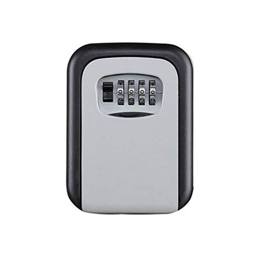 WEQQ Caja de Cerradura de Llave Plateada Caja de Seguridad de Llave de aleación de Aluminio montada en la Pared Resistente a la Intemperie (Plateado)