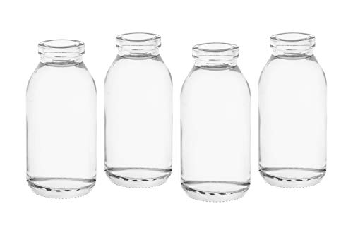 casa-vetro 12 x kleine Vasen Glasflaschen C-Dko-TR Glasfläschchen Landhaus Vintage Vase Flasche Glas klar Mini Milchflaschen Dekoflaschen C-Deko-TR (12 x Vase)