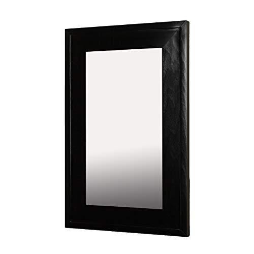 14'x24' Mirrored Medicine Cabinet (Black)