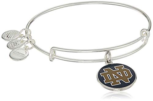 Alex and Ani Collaborations Expandable Bangle with University of Notre Dame Logo Charm