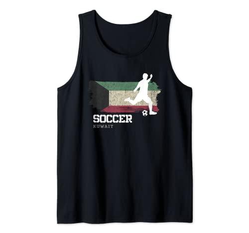 Fútbol Bandera de Kuwait Equipo de fútbol Jugador Camiseta sin Mangas
