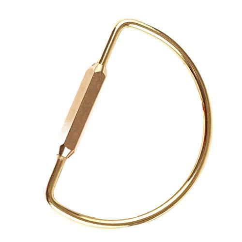Junecat Anillos de Bronce Oval Llavero Loop Tipo roscado surco de Apertura de la Cadena Claves Organización 4.5x6.6cm