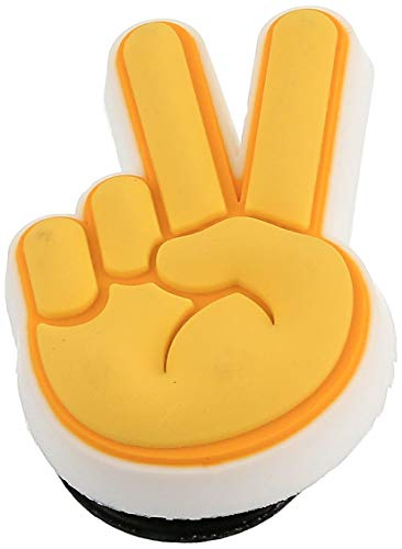 Crocs Jibbitz Peace and Love Shoe Charms | Jibbitz for Crocs, Peace Hand Sign, Small
