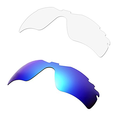 HKUCO Replacement Lenses For Oakley Radar Path-Vented Sunglasses Blue/Transparent Polarized