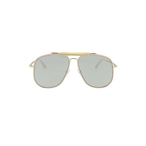 Tom Ford Unisex-Erwachsene FT0557 28V 58 Sonnenbrille, Gold (Oro Rosa Lucido/Blu)