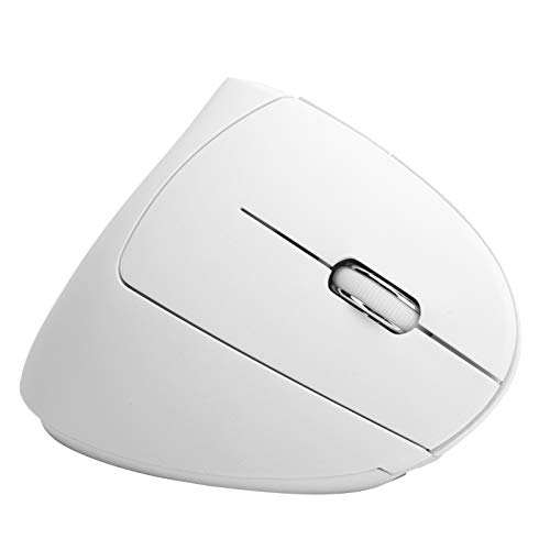 PUSOKEI Vertical 2.4G Wireless Mouse, Rechargeable Gaming Mice, for Home Office Desktop PC Laptop Computer(white)