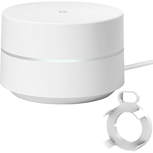 Google Wi-Fi 1-Pack (GA00157-US) with Deco Gear WiFi Outlet Wall Mount White