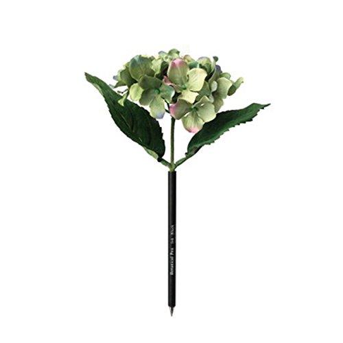 ボンブーグボタニカルペン アジサイ お花のボールペンと木のペンスタンド セット 受付ペン