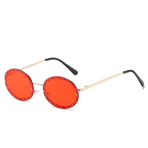 HAOMAO Gafas de sol de diamante gradiente de espejo pequeño sin montura...