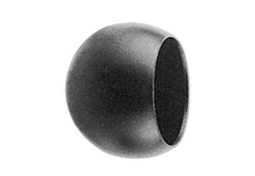 Fenau | Abschlußkugel Ø 45 mm | für Ø 33,7 mm| Stahl S235JR, roh| Halbkugel/Dekokugel/Eisenkugel | Schweißbar zur Weiterverarbeitung