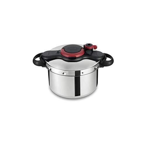 Seb P4624922 Clipso Minut Easy Autocuiseur 9 L Inox + Kit Stérilisation + Livre de recettes Tous Feux Dont Induction, Gris