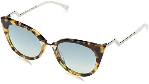 FENDI Damen FF 0118/S 56 XU4 52 Sonnenbrille, Braun (Havanpld/Azr Bl)