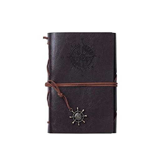 Linjolly Cuaderno portátil portátil Retro A6 / A7 Diario Personalidad Multifunción Viaje pequeño Pequeño portátil Desmontable (80 Hojas / 160 páginas) Diario (Color : A6 Coffee)