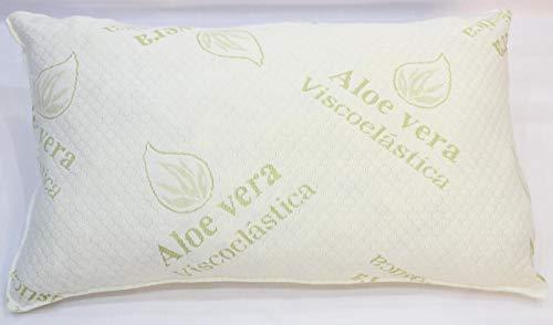 EL DUENDE Almohada Aloe-Vera de 140 cm, Fabricada con Copos viscoelásticos. Incluye Funda de Almohada viscoelástica de Regalo.