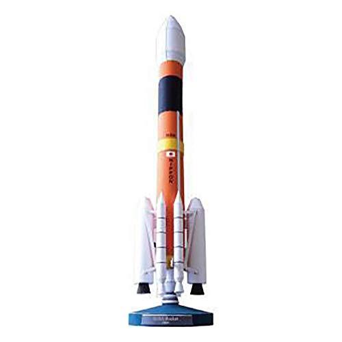 Lllunimon Japanisches H-2-Raketenmodell-Gebäudeteil, 3D-Papier-Handgefertigte Modellkunstarbeit Aerospace Military Fan Collection
