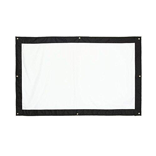 Hakeeta 16: 9 HD Cortina de Pantalla de proyector, para múltiples sitios, Antiarrugas Plegable, fácil de Transportar, Blanco Mate, tamaño 5 a elegir-60 72 100 120 150 Pulgadas(120 Pulgadas)