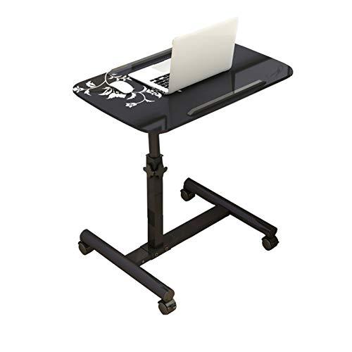 GUOQING Laptopständer Pflegetisch, Notebooktisch Rolltisch Für Bett Und Sofa (Color : Black Flowers)