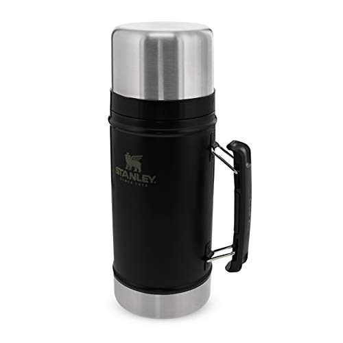 Stanley The Legendary Classic Vacuum Food Jar .94L Matte Black 18/8 Stainless Steel Double-Wall Vacuum Insulation Water Bottle Leakproof + Packable Doubles As Cup Dishwasher Safe Naturally Bpa-Free