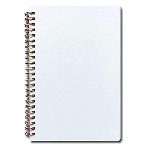 A5, forrado, cubierta blanda, bobina, cuaderno, diario, escritura, práctica, bloc de notas, libro de diario, papel con renglones universitarios, para notas, tareas, reuniones, oficina (120 páginas, 1