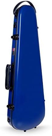 Crossrock CRF1000VNVBL Fiberglass Violin Case 4 4 Full Size Backpack Style Navy Blue product image