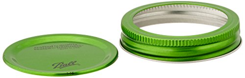 Ball Color 6/Pack Lids and Bands, Green