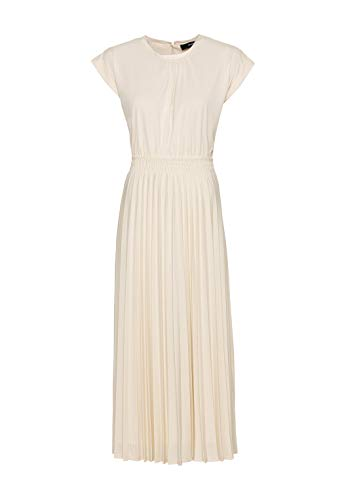 HALLHUBER Jerseykleid mit Plissee ausgestellter Schnitt Creme, L